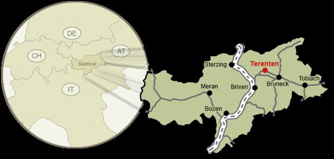 Come arrivare a Terento, regione turistica del Plan de Corones