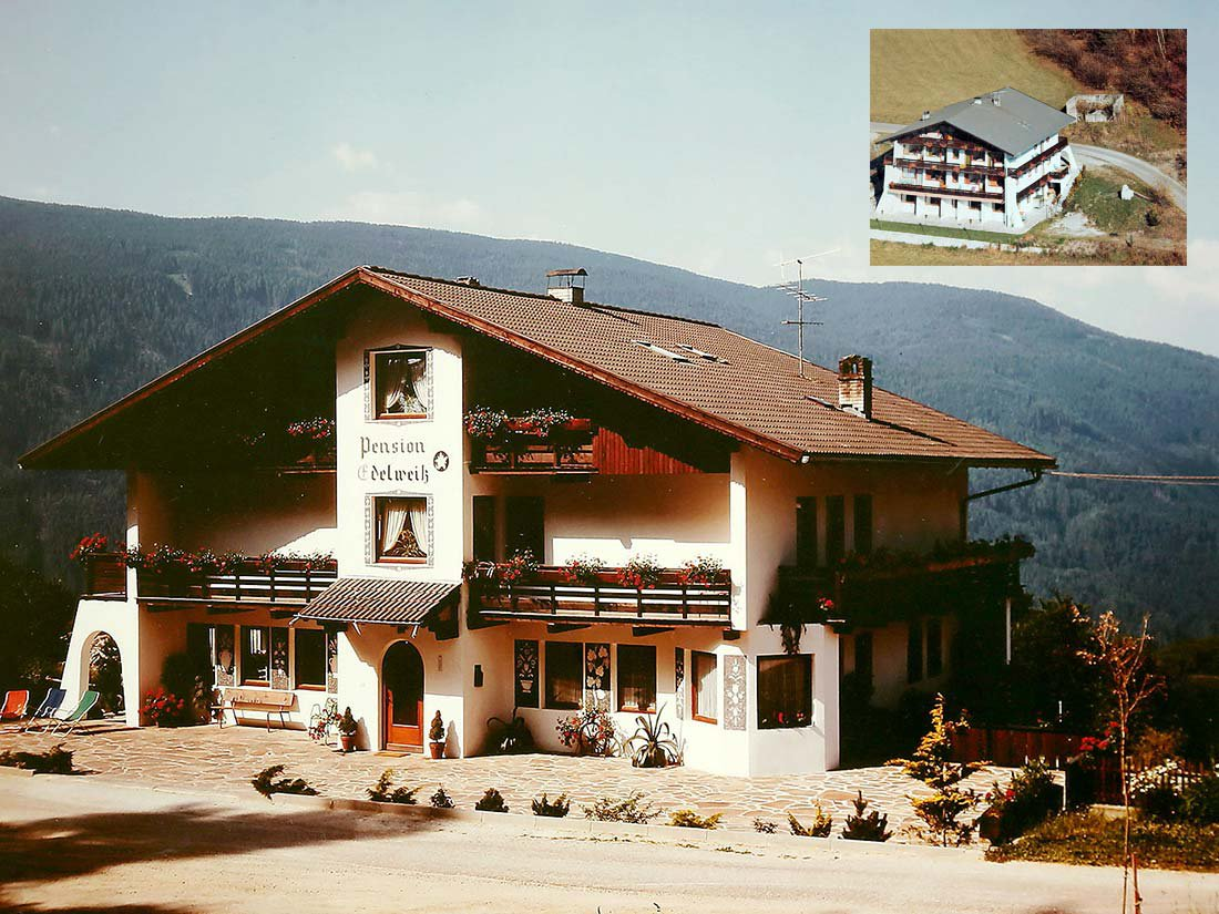 Pension Edelweiss in Terento, old view