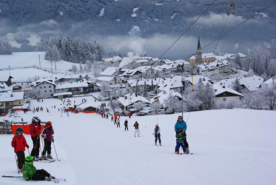 Skiing in the heart of Terento