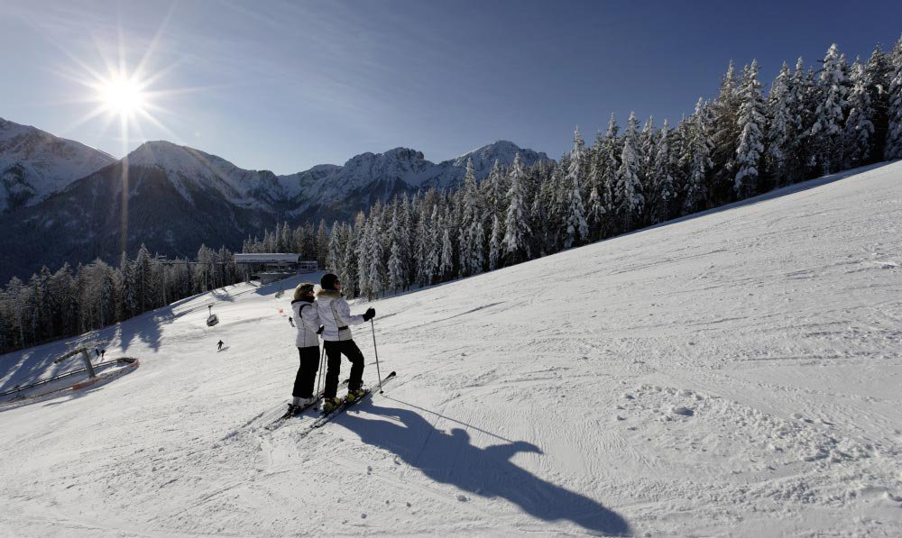 Winter holiday at the Plan de Corones in South Tyrol