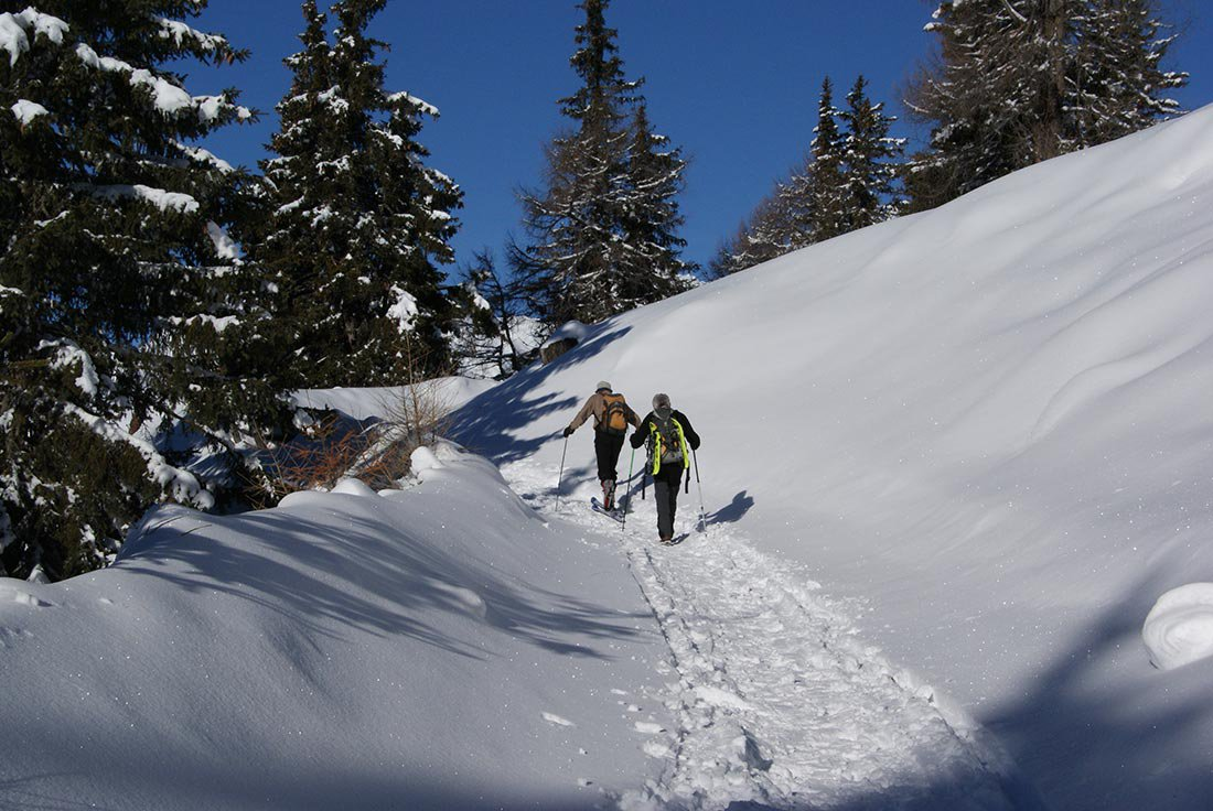Winter walks in Terento in the holiday region Plan de Corones